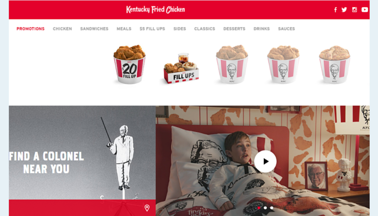 The official KFC website