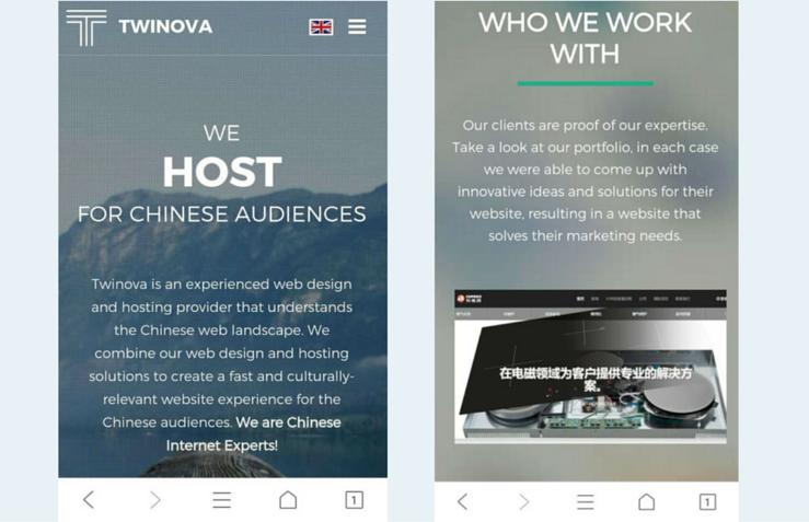 Twinova responsive website